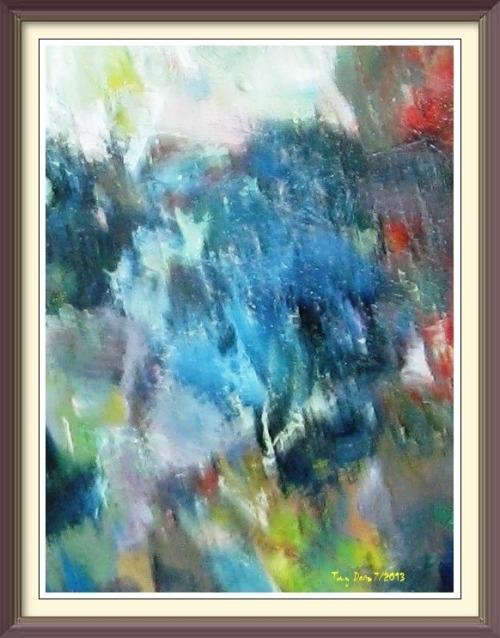 Blue Roses framed